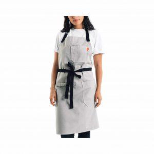 Caldo Kitchen Apron for Men and Women (Grey)
