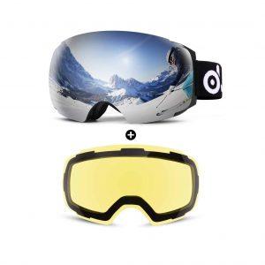 Odoland Magnetic Interchangeable Ski Goggles