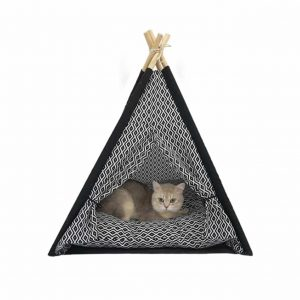 CT COUTUDI Pet Teepee Thick Cushion Portable Pet Tent
