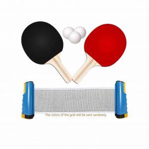 TOMAT Portable Ping-Pong Paddles Set