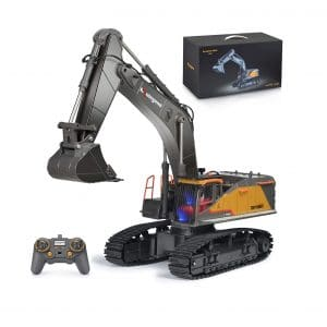 kolegend Remote Control Excavator Toy 22 Channel Rechargeable RC Truck