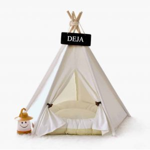 Deja Pet Teepee Dog Cat Tent 24 Inches
