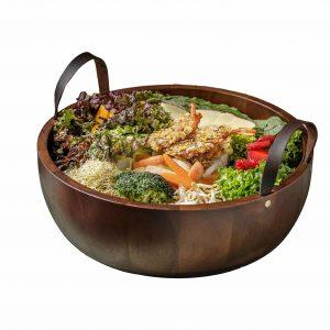 Shanik's Acacia Wooden Salad Bowl