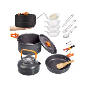 Overmont- Camping Cookware Mess Kit