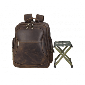Polare Leather Backpack Stool Combo for Outdoor Activities