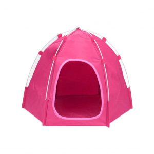 QTT Pet Beds Portable Folding Kennel Teepee Tent