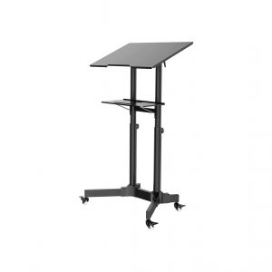 1home Steel Mobile Stand Up Adjustable Height Desk