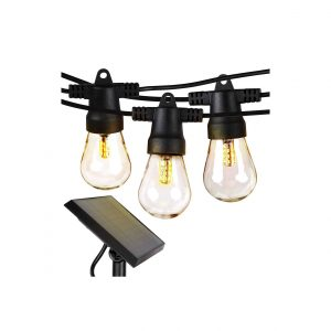 Brightech Ambience Pro Waterproof Outdoor String Light Solar Powered