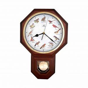 JUSTIME Unique 12 North America Bird's Pendulum Wall Clock