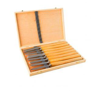 Lehom 8PCS HSS Wood Lathe Chisel Set
