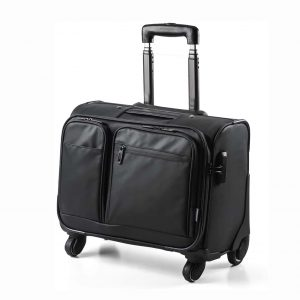 SANWA Rolling Bag with Lock Waterproof Computer Briefcase