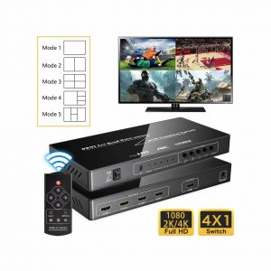 Iseebiz 4K HDMI 4 In 1 Out HDMI