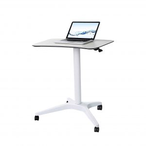 CARTMAY Pneumatic Height Adjustable Mobile Desk