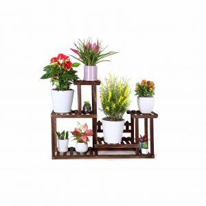 Foldify Pine Wood Plant Stand 7-9 Flower Pots