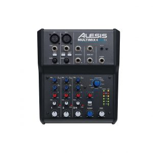 Alesis MultiMix Compact Studio Mixer for Home Studio Recording