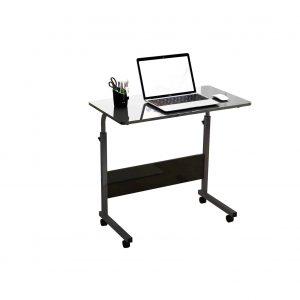 DlandHome Mobile Side Table Adjustable Height Mobile Desk