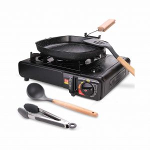 Odoland Camping Stove 6 Pieces Portable Gas Stove