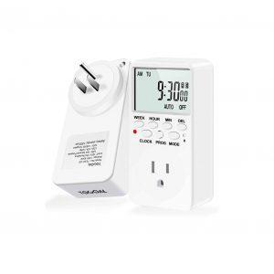 TOGOAL 2 Packs 24:7 Programmable Digital Switch Timer