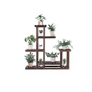 VIVOSUN Wood Plant Stand 10 Pots Capacity