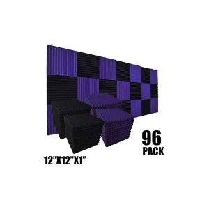 XIN&LOG 96 Pack Acoustic Foam Panel, Black