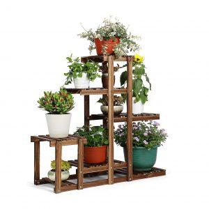 HYNAWIN Plant Stand Wood Multi-Tier Plant Shelf Holder