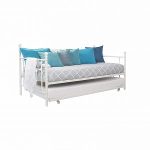 Deedeeshop888 Twin Size Daybed with Roll-Out Trundle