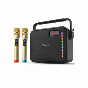 Shinco Portable Karaoke Machine with 2 UHF Wireless Microphones