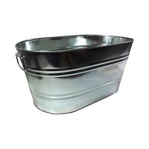 FixtureDisplays Galvanized Metal Bucket 15358-NF