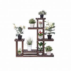 GOFLAME Plant Stand Wood Plant Display
