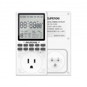 Nearpow 7-Day Cycle Plug-in Digital Programmable Timer Switch