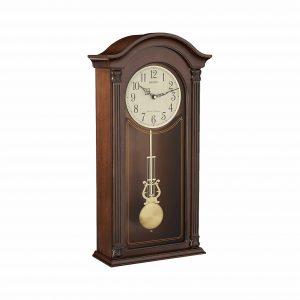 Seiko Gold-Tone & Arched Pendulum Wall Clock