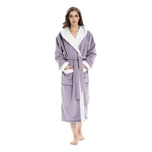 Femofit Women's Plush Robe with Hood