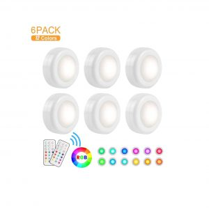 KINDEED Color Changing LED Puck Light