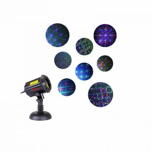LEDMALL Laser Christmas Lights w Security Lock and RF Remote Control