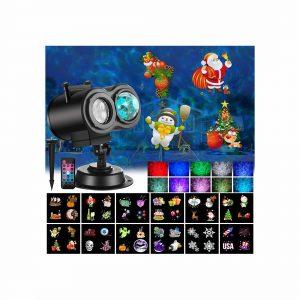 Ocean Wave Christmas Projector Lights, 2-in -1