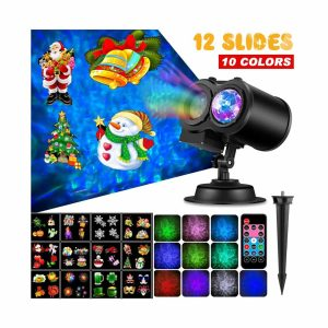Outry Waterproof Christmas Projector Lights, 2-in -1