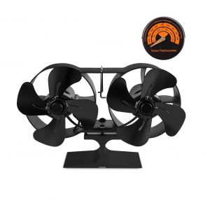PYBBO Double Motors Wood Stove Fan