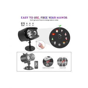 KAREEME Holiday Projector Lights – Waterproof with Remote Control