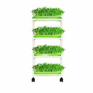 LeJoy Garden 4 Layers Plastic Shelf Sprout Trays for Garden Home Office
