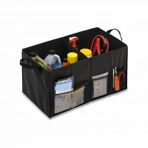 Honey-Can-Do Black Folding Car Trunk Organizer