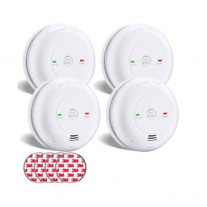 SITERWELL 4 Pack Combination Smoke and Carbon Monoxide Detector
