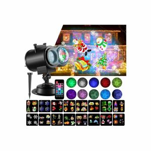 SOMKTN Christmas Projector Lights with Sixteen Slides Patterns