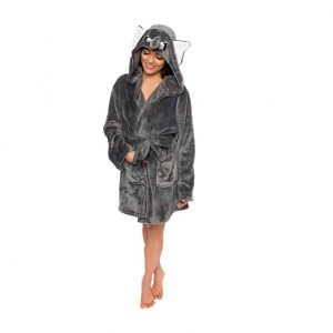 Silver Lilly Women's Animal Hooded Robe