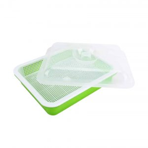 Homend Seed Germination Tray with Lid for Home Office Garden
