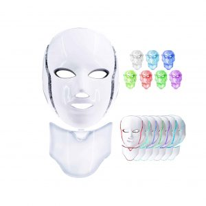 WEWBABY LED Face Mask 7 Colors LED Light Therapy