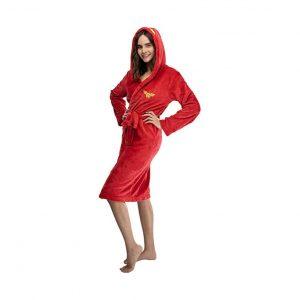 INTIMO Wonder Woman Juniors Hooded Fleece Robe