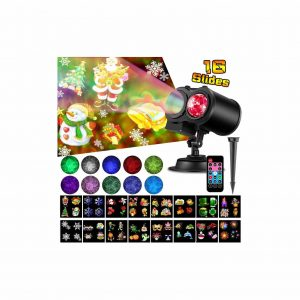 Elec3 16 Slides Christmas Light Projector for Holidays & Halloween Parties Decoration