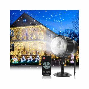 Austrobo Snowfall LED Christmas Projector Light with RF Remote