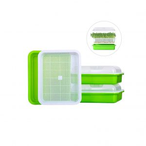 Cuzzme Seed Sprouting Kit Tray with Lid