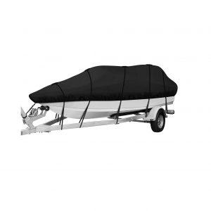 IPHUNGO 420D Heavy-Duty Waterproof Boat Cover, Full-Size